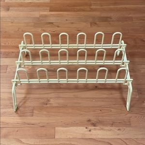 Cream Standing Shoe Rack